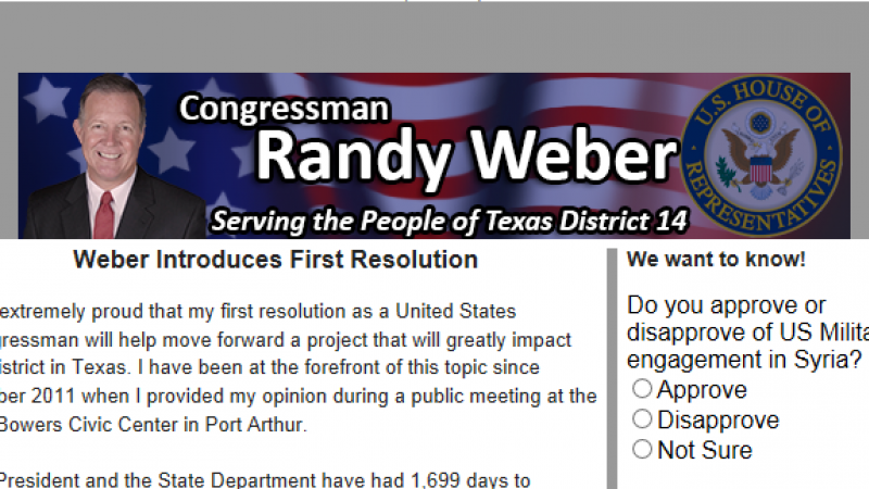 Sign up for the Congressman's Newsletter