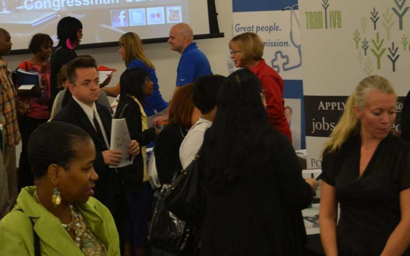 Attendees at the 2013 Central Indiana Job Fair