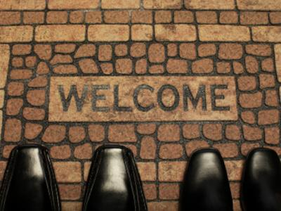 An Office's Welcome mat