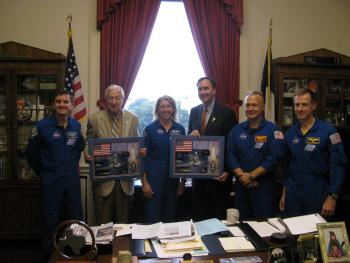 Congressman Olson at a ceremony honoring Chairman Hall and the STS-135 crew