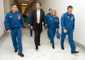 Congressman Olson with the STS-130 Crew