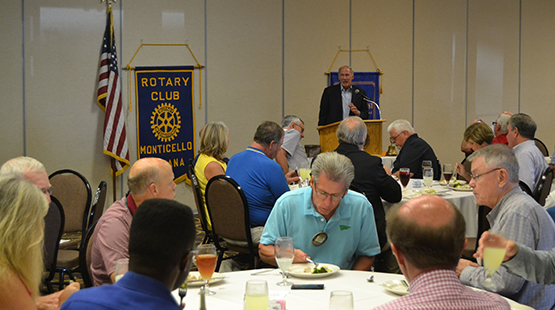 Coats Addresses Monticello Rotary Club