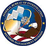 Federal Bureau of Investigation Records Management Division Seal Graphic