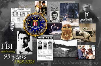 Graphic for FBI Celebrating 95 years