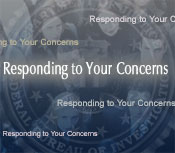 "Graphic with the words ""Responding to your Concerns"""