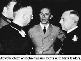 Photograph of Abwehr chief Wilhelm Canaris meets with Nazi leaders