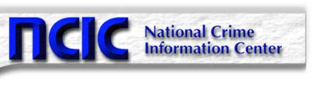 This is a graphic banner for NCIC National Crime Information Center
