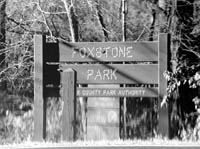 Picture of Foxstone Park sign
