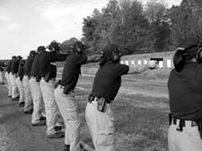 Firearms training at Quantico